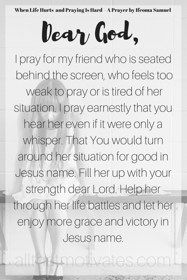 When Life Hurts and Praying Is Hard | Pinterest | Truths, Christian ...