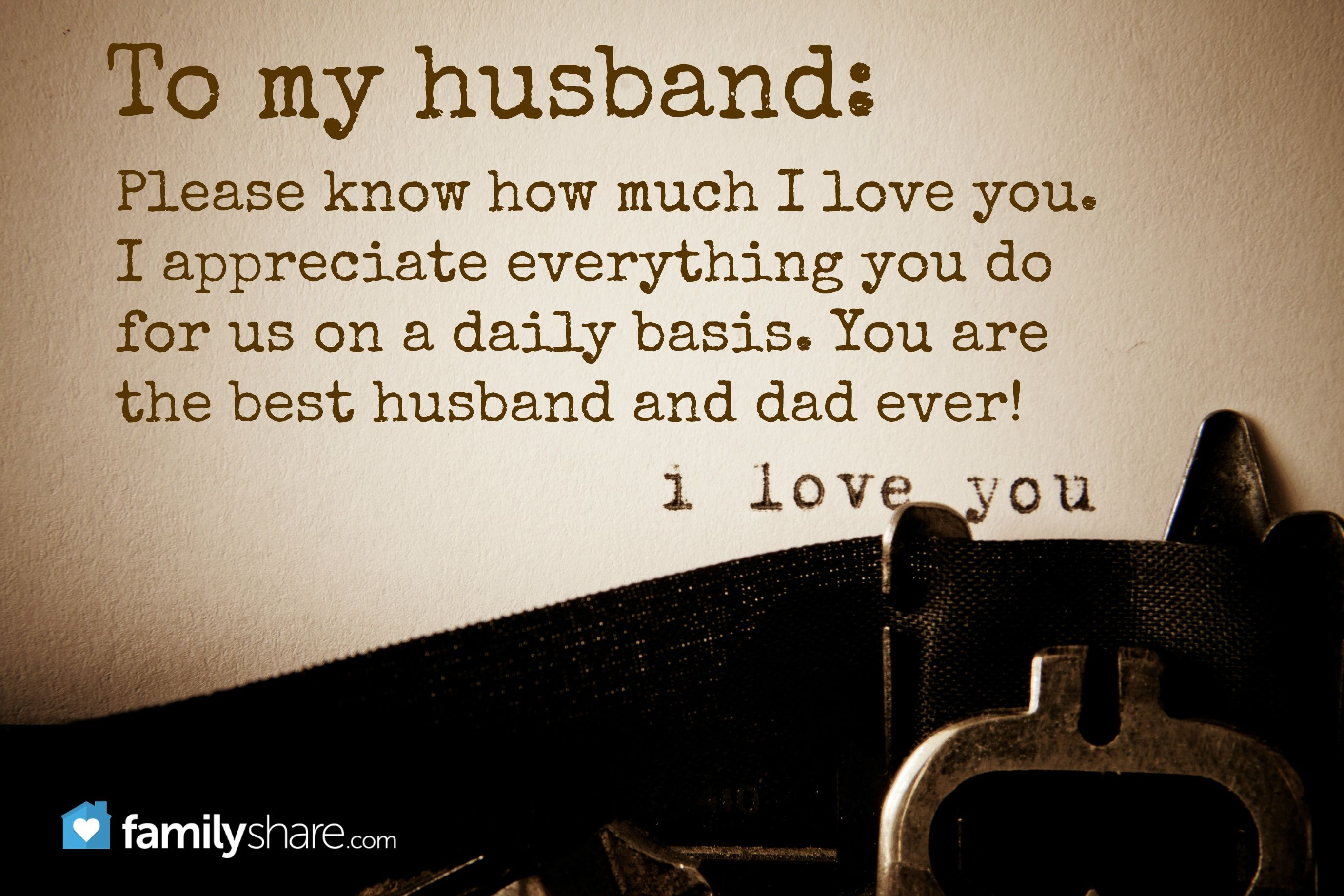 what i appreciate about my husband