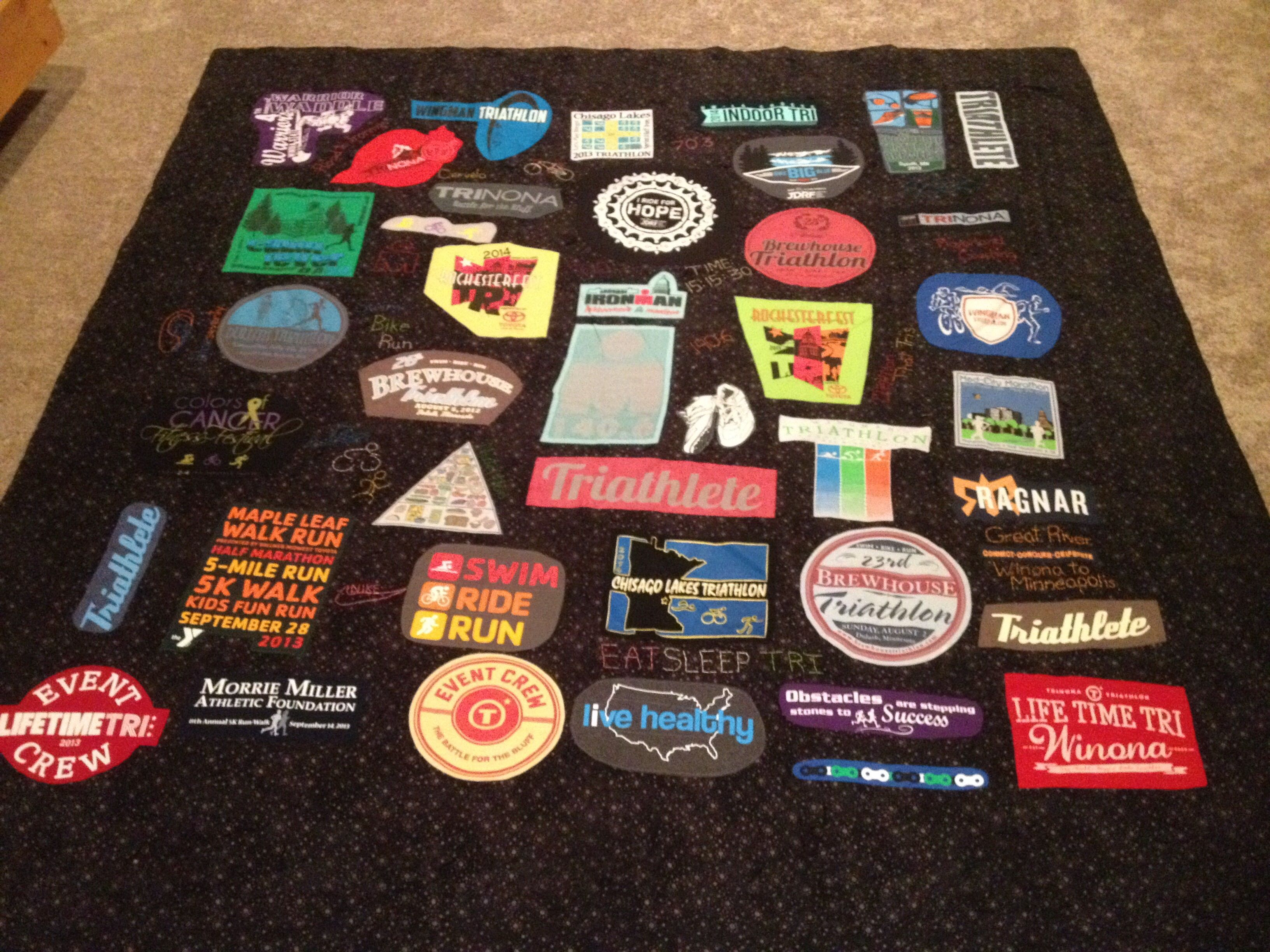 DIY T-Shirt Quilt - Step-by-Step Instructions | Triathlon ... : making a t shirt quilt - Adamdwight.com