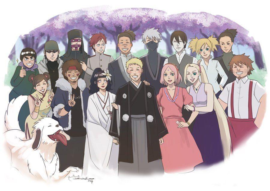 Wedding Naruto E Sasuke Desenho Personagens Naruto Shippuden Anime