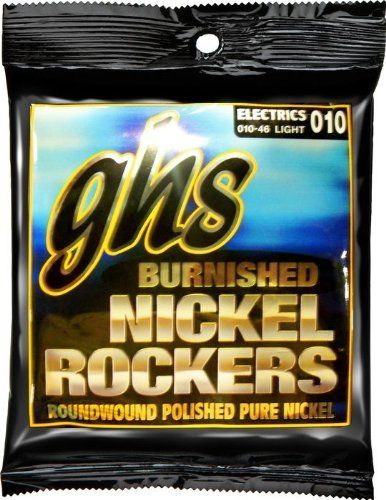 GHS Strings Electric Guitar Set (Light Burnished Nickel) by GHS. $8.09. GHS Burnished Nickel Electric Guitar Pure Nickle Wrap Extra Light 9-42 Roundwound Pure Nickel. Pure nickel strings for a warm vintage tone. These strings are lightly polished for a smooth feel. They are great for benders!. Save 19%!