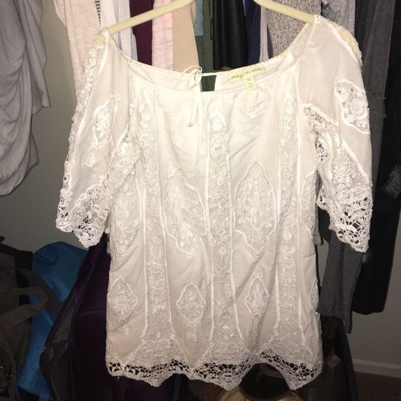 Urban Outfitters White Lace Dress Staring at stars   Lace