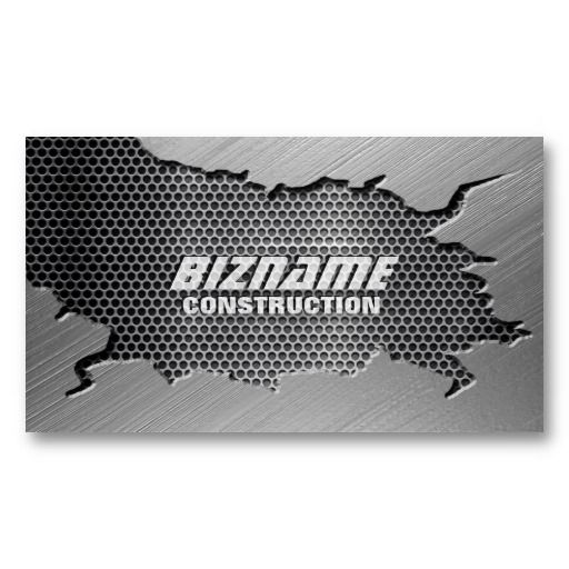 Brushed metal with mesh grill business card brushed metal brushed metal with mesh grill business card colourmoves
