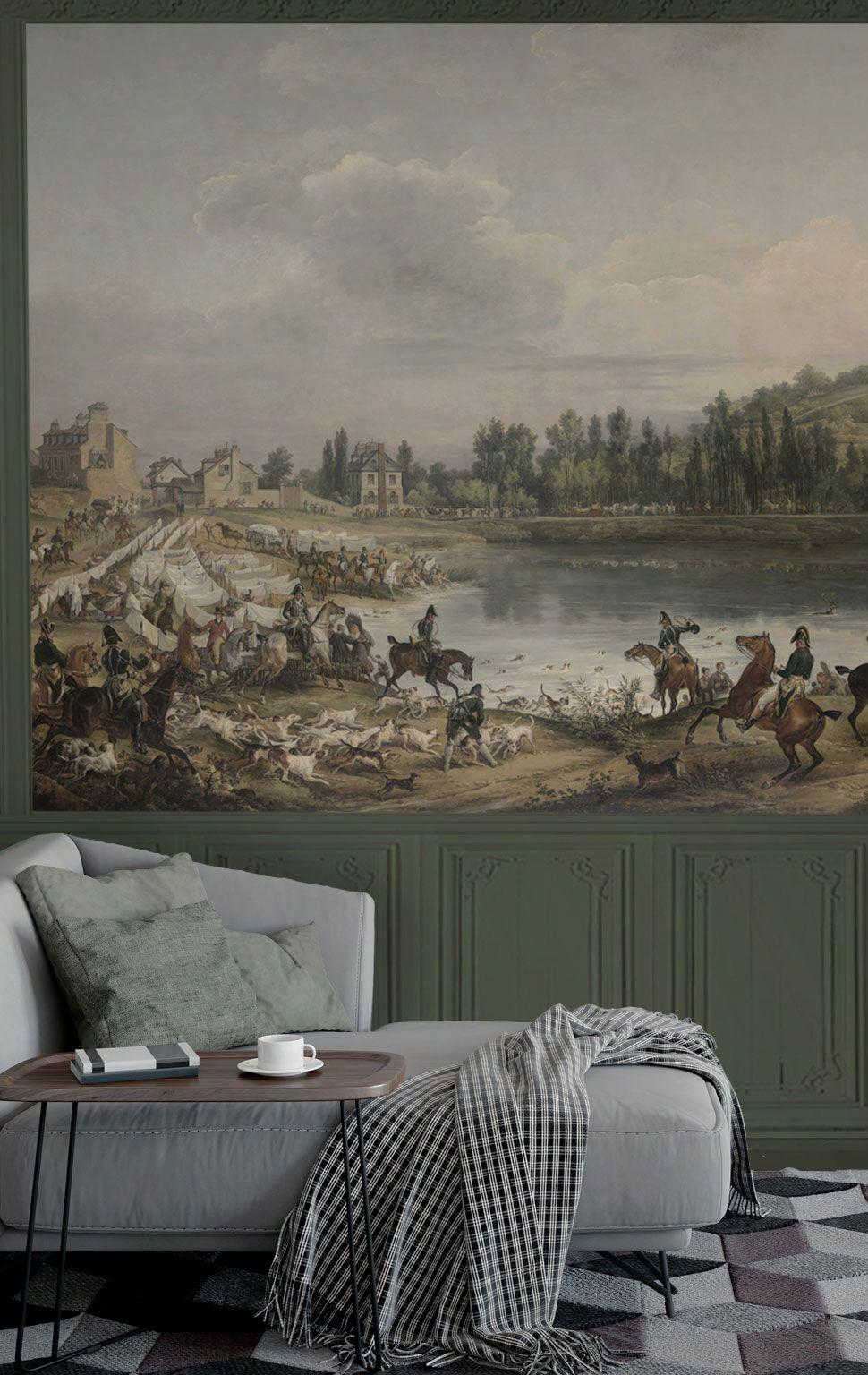 Papier peint panoramique - mural wallpaper - H 186 x L 274 cm -d'après Carle Vernet. Magnifique ...