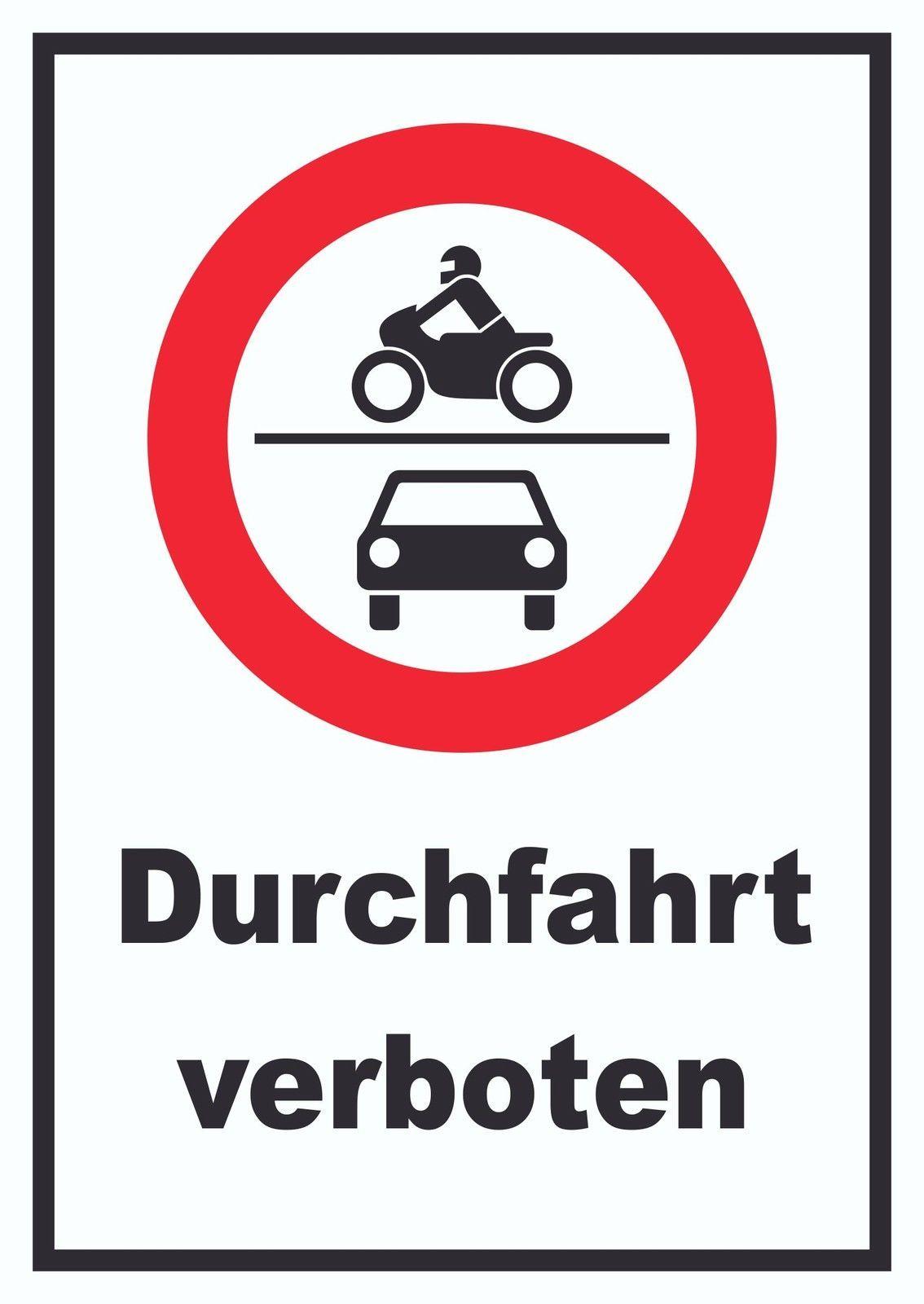 verbotsschild durchfahrt verboten f r moped motorrad und. Black Bedroom Furniture Sets. Home Design Ideas