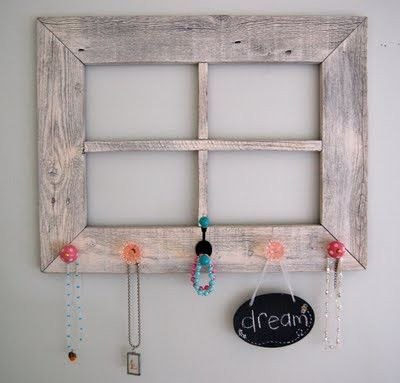 Barn wood makeover for a frame, wall hanging, jewelry holder ...