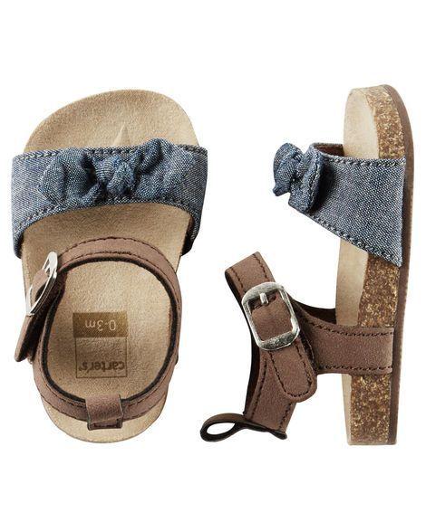 Carter's Chambray Sandal Crib Shoes