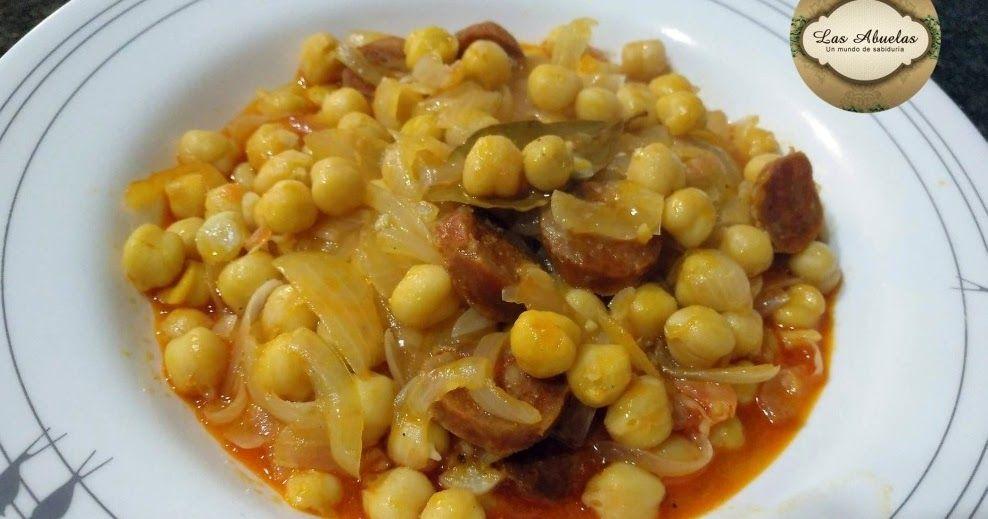 Garbanzos Cocinados Con Chorizo Y Cebolla Comida Rápida De Hacer Ademas Sabrosa Es Una Alternativa Para Preparar Unos Garbanzos Garbanzos Comida Chorizo