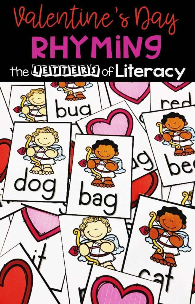 FREE Printable Valentine's Day Rhyming Activity  4 Ways to Play! is part of Rhyming activities, Kindergarten valentines, Kindergarten freebies, Valentines printables free, Valentines school, Valentines printables - FREE Printable Valentine's Day Rhyming Activity for Kindergarten! Easyprep activity with 4 Ways to Play! Perfect for your literacy center this February!