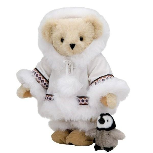 Arctic Bear with Penguin - Great wintertime gift - The Vermont Teddy... ❤
