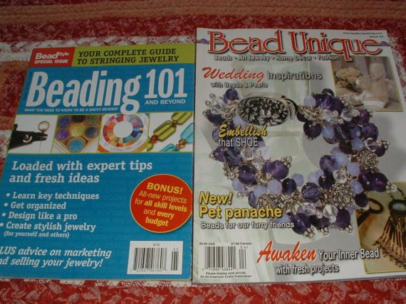 Back Issues of Bead Style Beading 101 AND Bead Unique Wedding