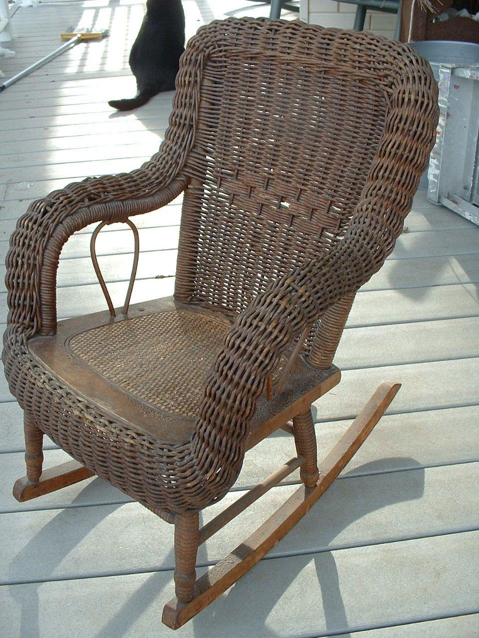 1880,s Heywood Wakefield Childs Wicker Rocker... | Wicker Furniture  Www.wickerparadise.com