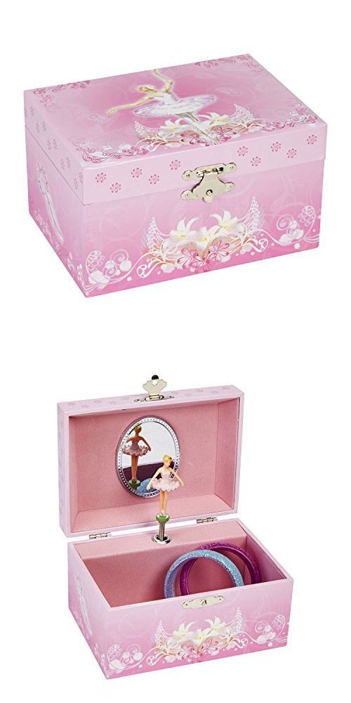 JewelKeeper Girls Musical Jewelry Storage Box with Spinning