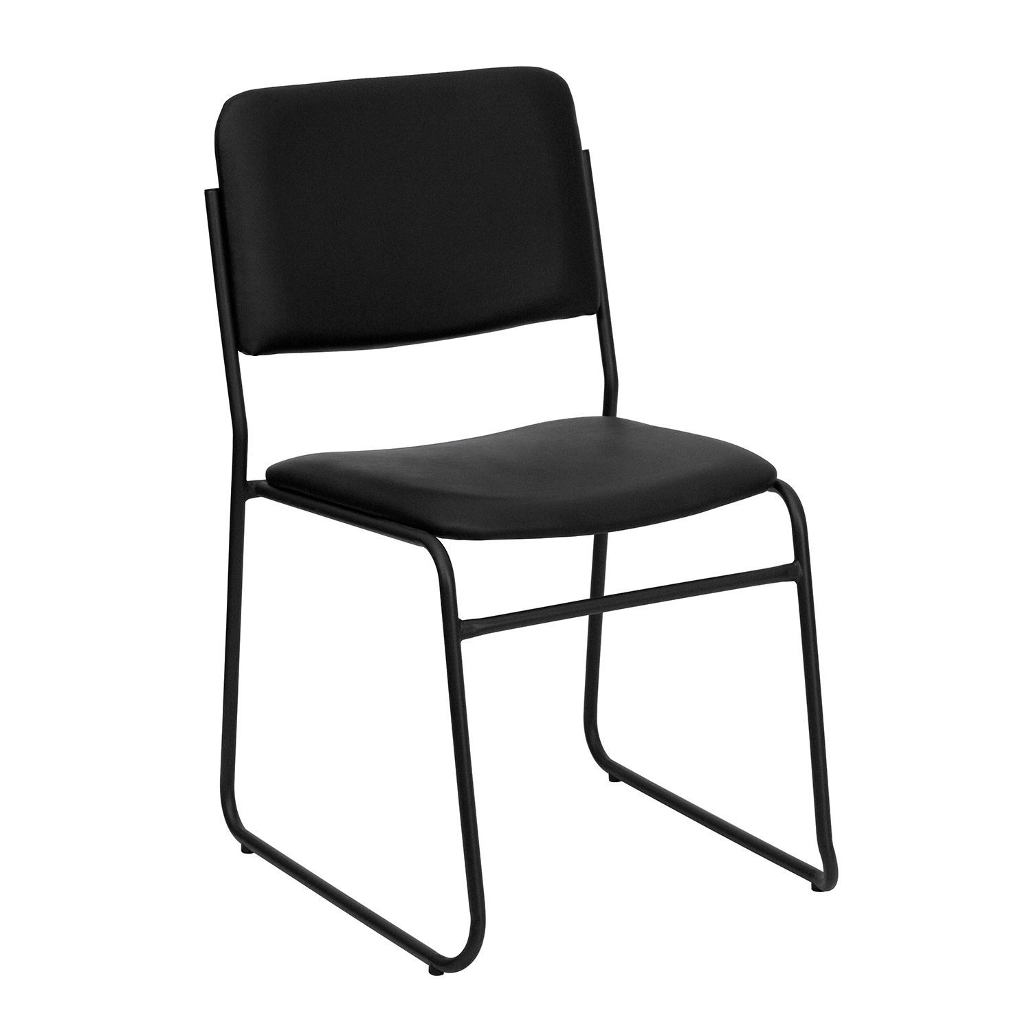 Hercules - Vinyl Stacking Chair with Sled Base - Black - Sam's Club