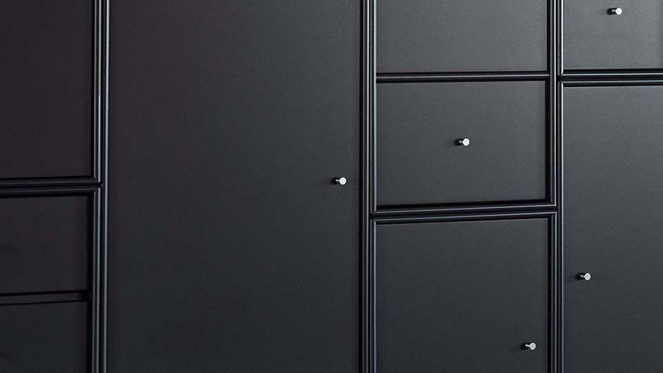Regale In Schwarz Mit Türen Und Schubladen Ideen Rund Ums Haus