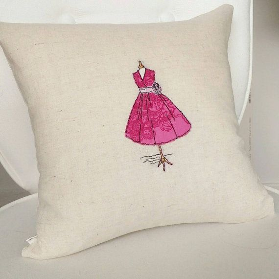Freehand Embroidery Handmade Mannequin Cushion Cover Single Dress ...