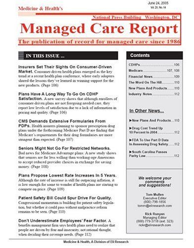Managed Care Report  Medicine  Health HttpWww