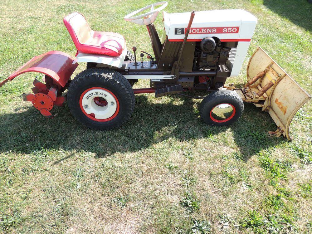 Rare Vintage Bolens 850 Lawn Garden Tractor With Atachments
