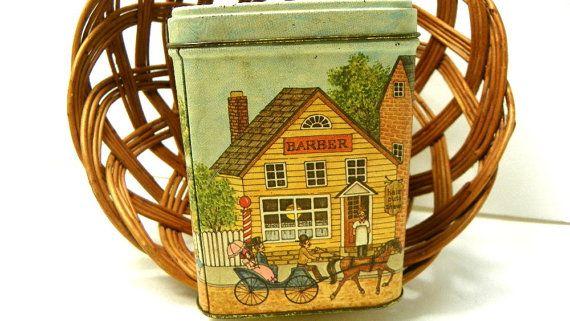 Vintage Tin Bank Main Street USA Metal Bank Vintage tin