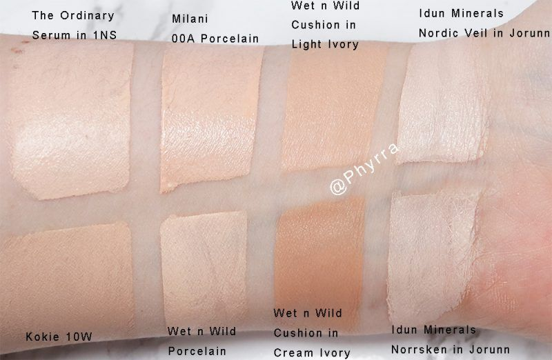 Wet N Wild Hits And Misses Swatches On Pale Skin The