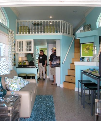 Interior of a 387 sqft solar powered cottage manufactured by palm harbor homes tour the house here so cute this is only about 100 sq ft smaller than the