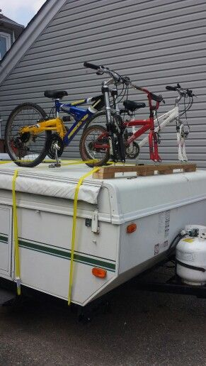 Do It Yourself Popup Trailer Bike Rack Tent Trailering