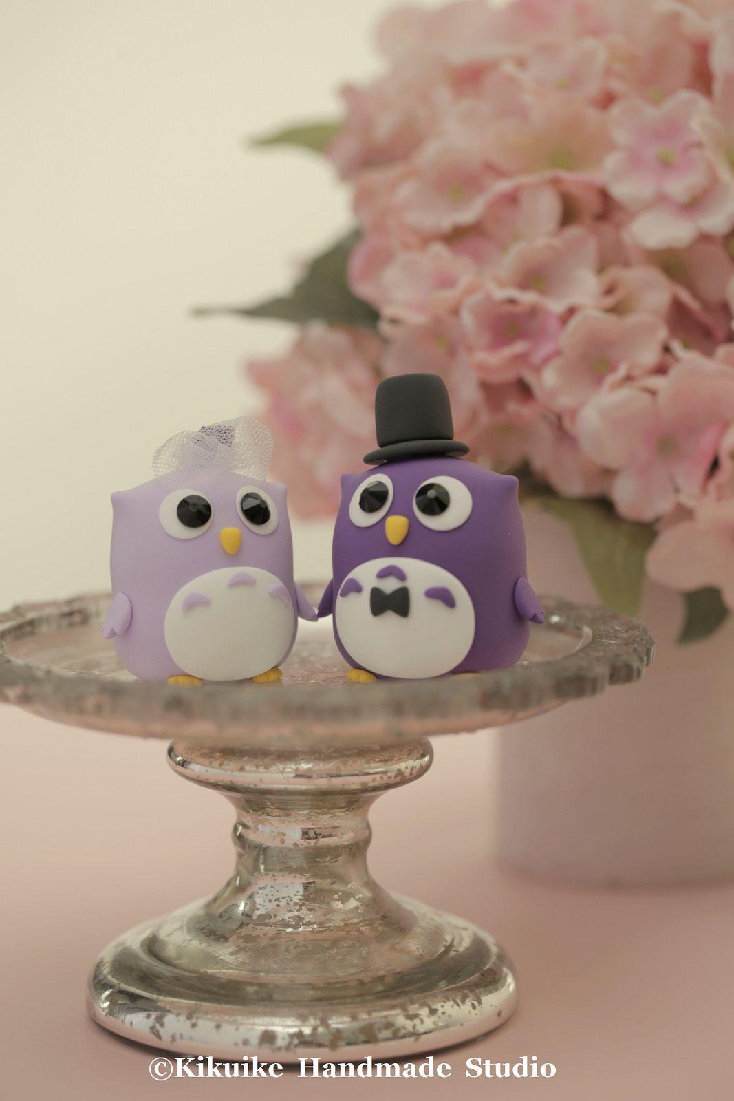 Owls wedding cake topper #forestwedding #weddingdetails #handmadewedding #claydoll #birdsaketopper #cakedecor