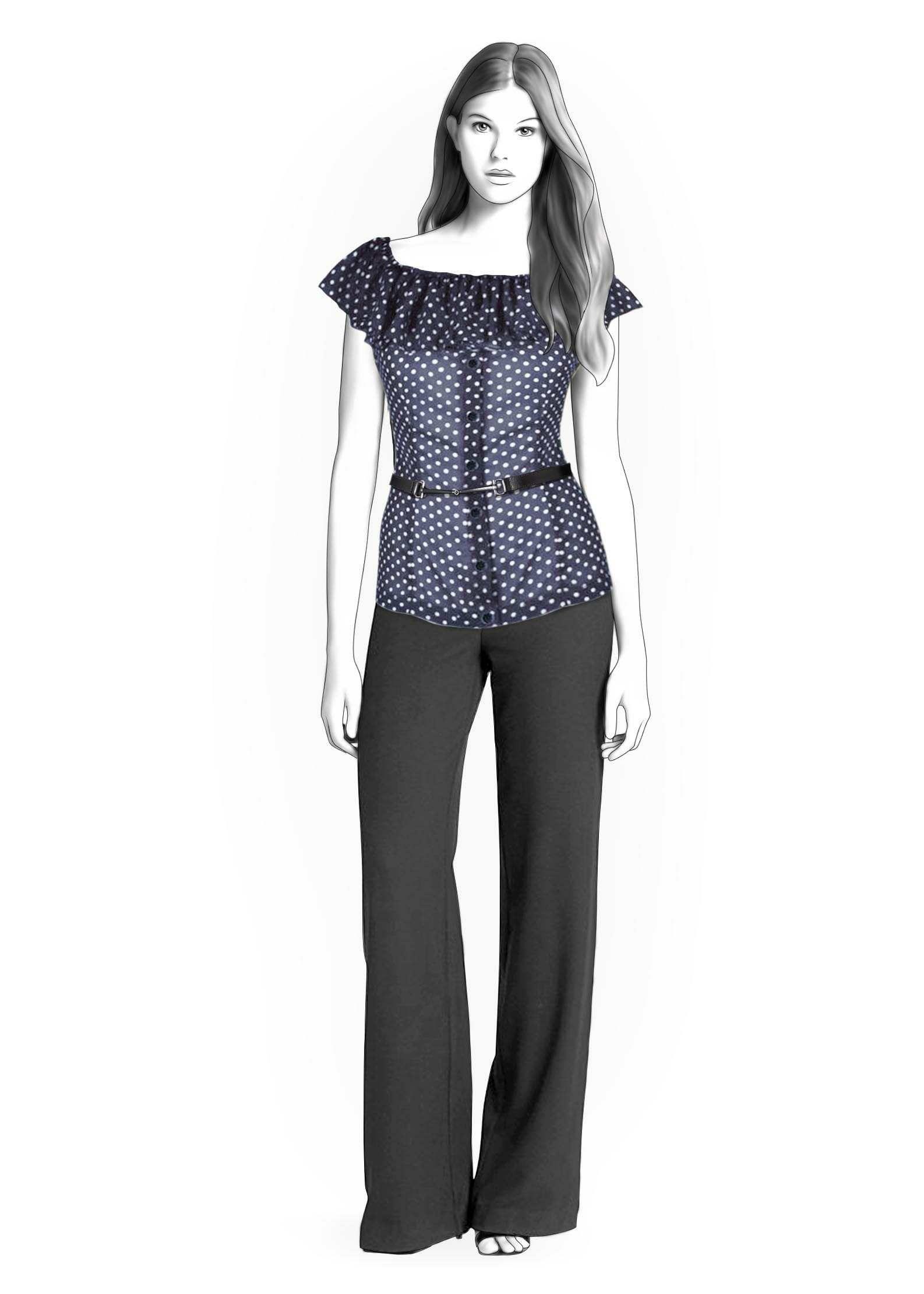 Blusa - Patrón de costura #4292 Patrón de costura a medida de Lekala ...