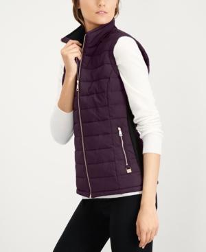 Calvin Klein Quilted Puffer Vest Purple Xl Quilted Puffer Vest Womens Puffer Vest Red Puffer Vest