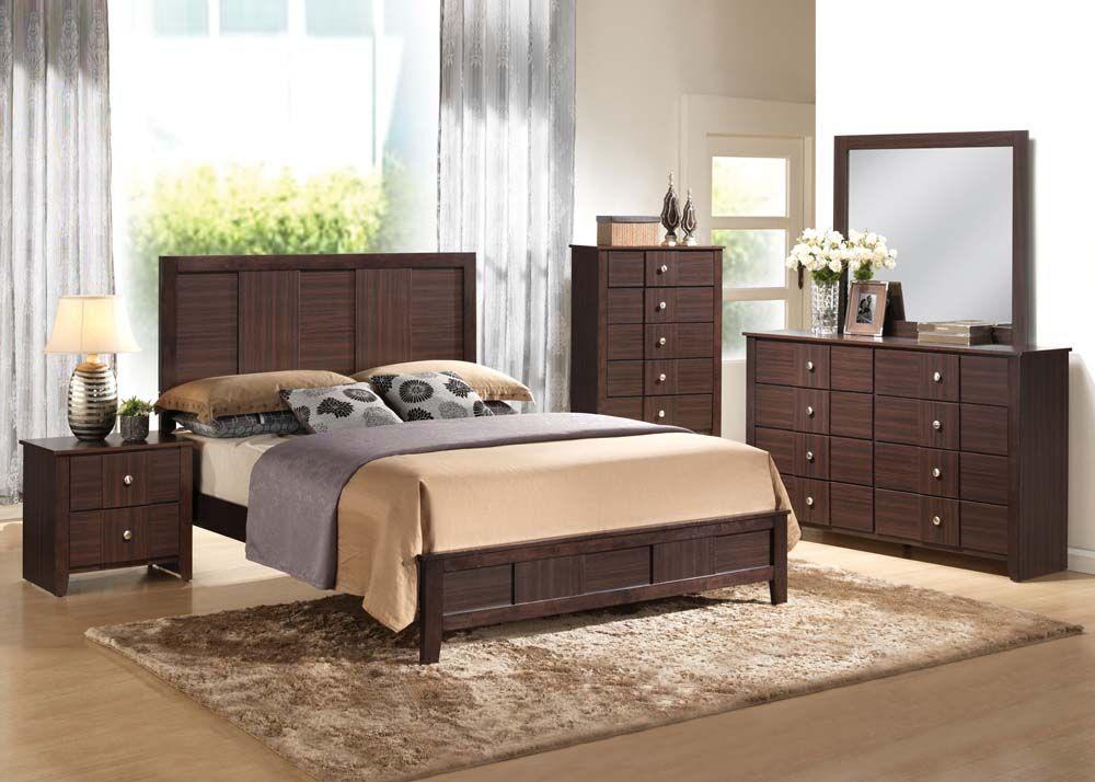 1x King Bed and rails 2x Nightstands 1x Dresser Bedroom #4 - Nash