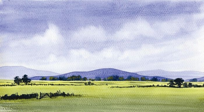 Easy Landscape Watercolor Paintings A Simple Watercolour Landscape