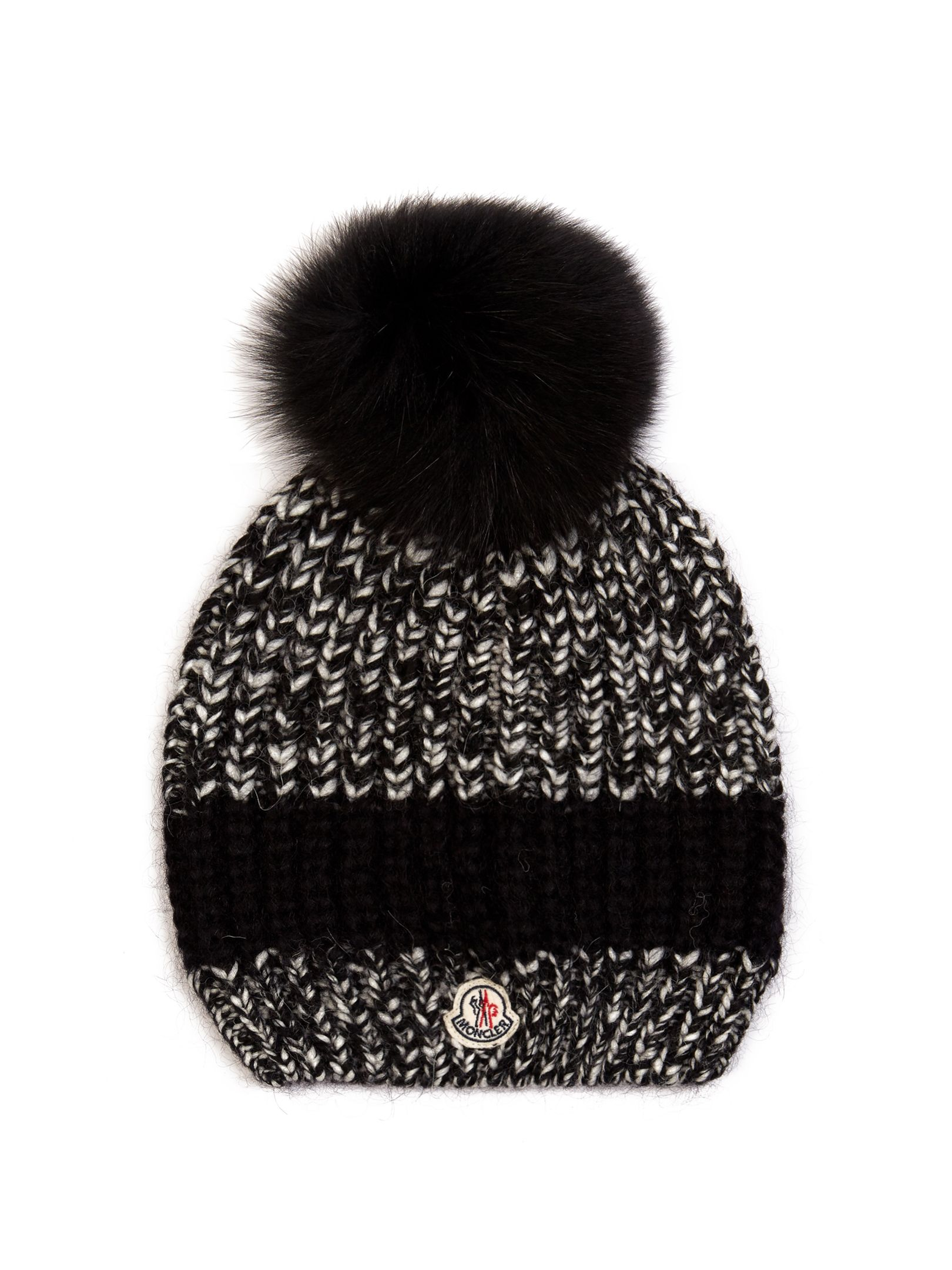 Discover ideas about Fur Pom Pom Hat. Moncler Fur Pom-Pom Ribbed Wool Hat ❤  liked on Polyvore featuring accessories ... e6ba35914d0d