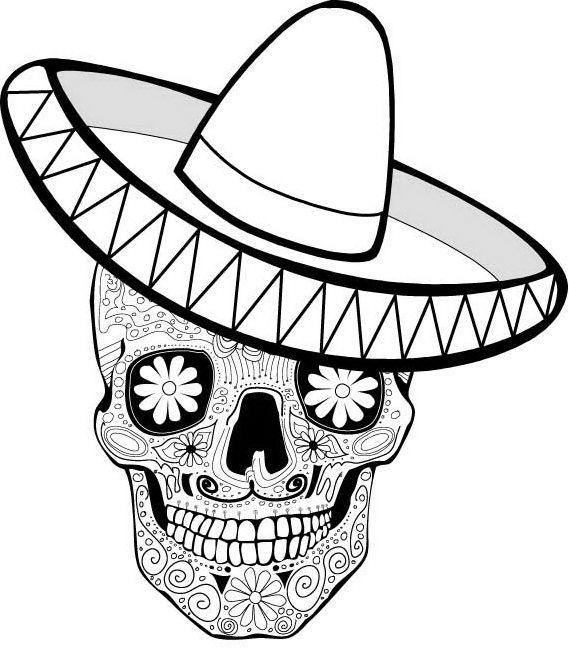 Day of the Dead Printables Spanish, Sugar skulls and Dia de - copy dia de los muertos mask coloring pages