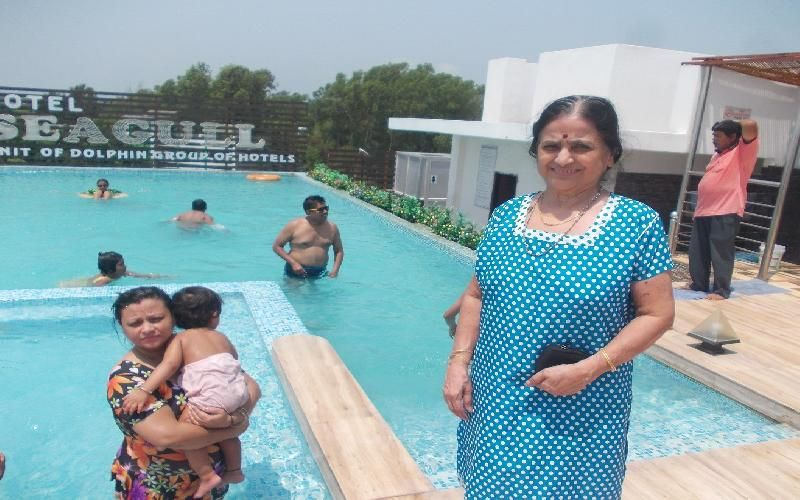 Travellers Enjoy Swimming In The Rooftop Swimming Pool Of Hotel Dolphin Seagull In Digha Swimming Pools Swimming Rooftop