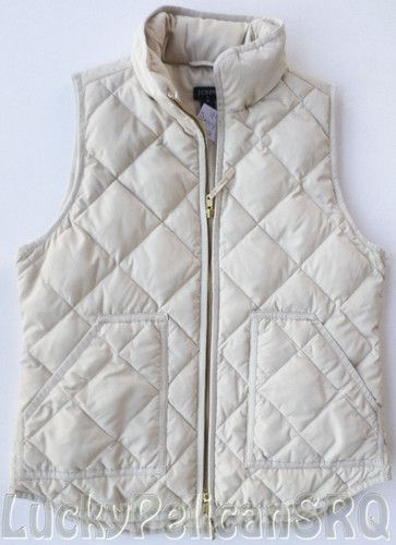 J.Crew Factory Excursion Quilted Puffer Vest Size XL