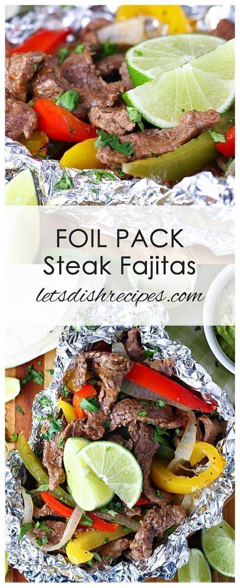 Photo of Foil Pack Steak Fajitas #stajerjecarecipe Foil Pack Steak Fajitas Recipe: Flank …