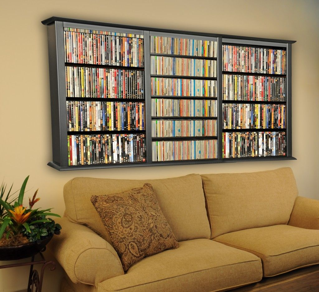 Nice CD DVD Storage Triple Wall Mount Cabinet Cute Idea And Would Save Floor  Space. Holds Up To 480 Dvds