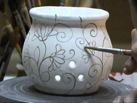 decorazione di un portaglio in ceramica ceramica e