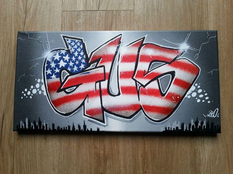 Tableau graffiti d coration new york graff deco chambre d - Peinture chambre ado new york ...
