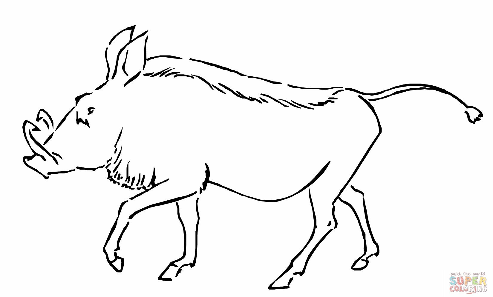 Warthog Coloring Page Coloring Pages Animal Templates Warthog