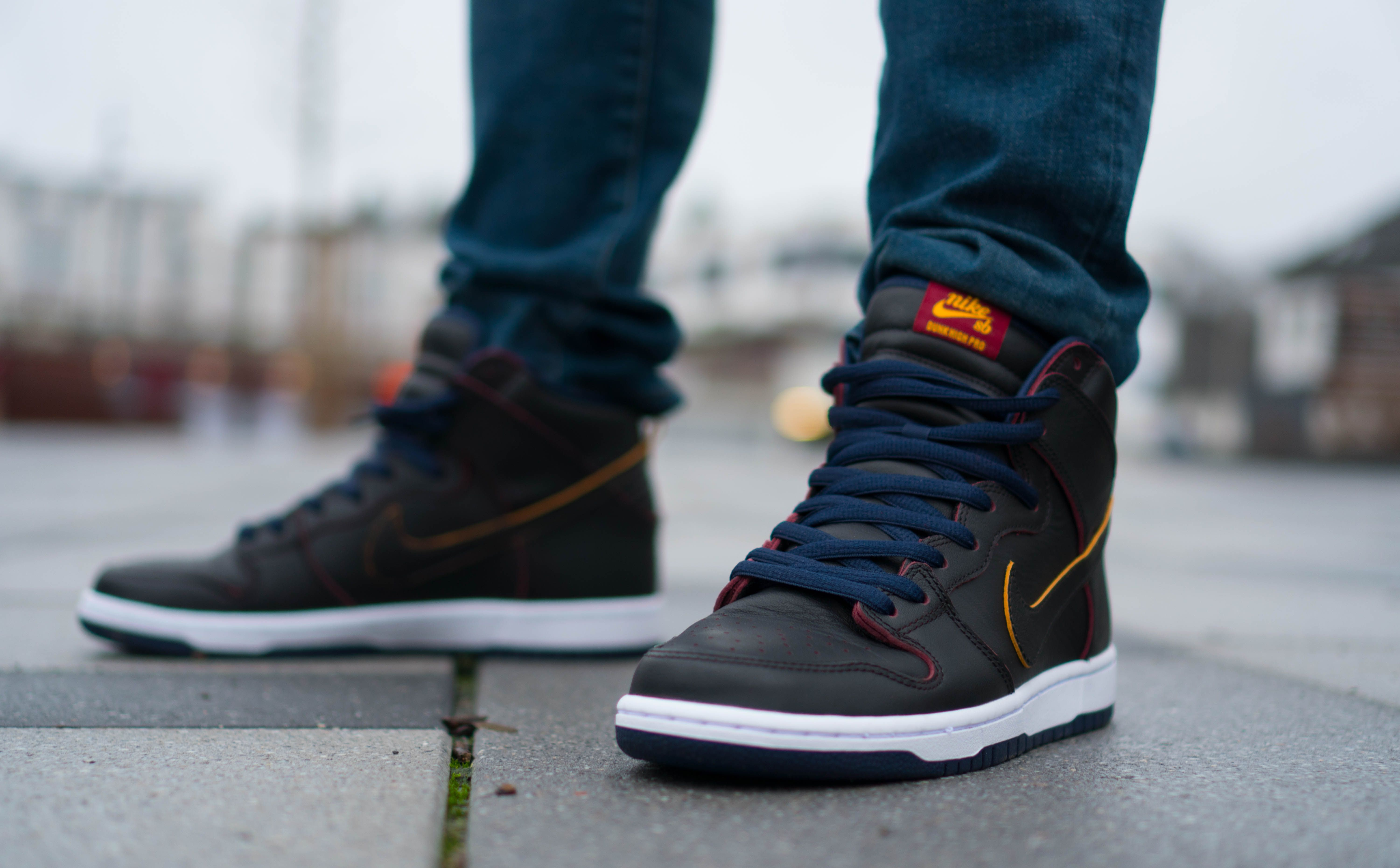Nike SB Dunk High inspired by the Cleveland Cavaliers colors