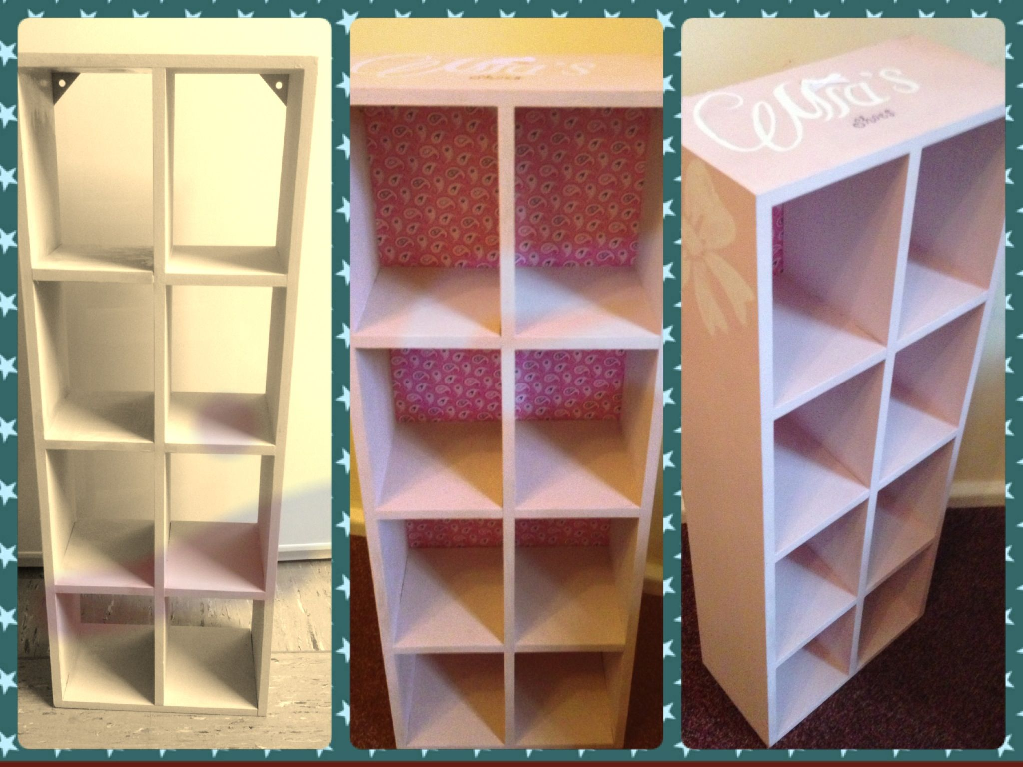 Baby Shoes storage idea Cd stand painted in Annie Sloan Antionette