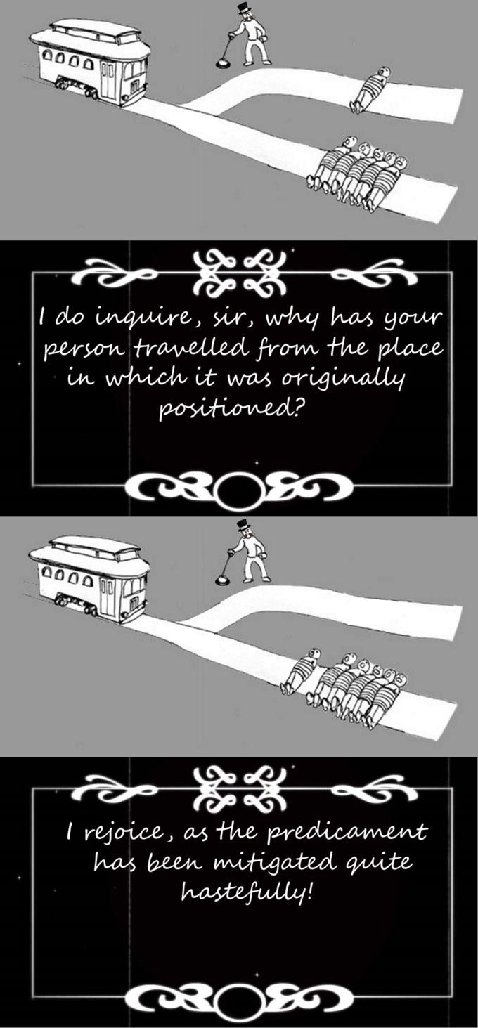 Trolley Problem Meme Drift