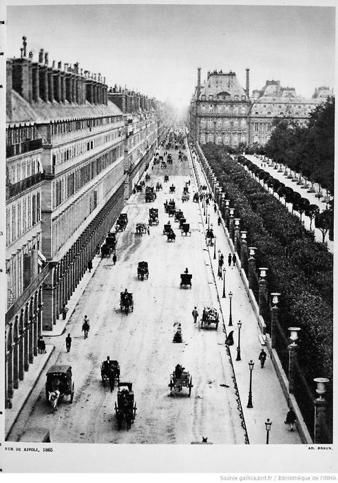Rue de Rivoli 1865.