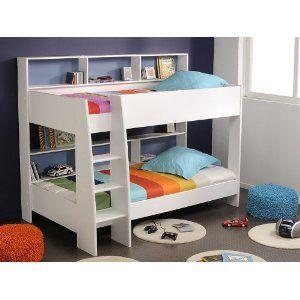 Etagenbett, Hochbett Tamina 1, 209x165x132cm, Weiß / Pink / Blau:  Amazon.de: Küche U0026 Haushalt