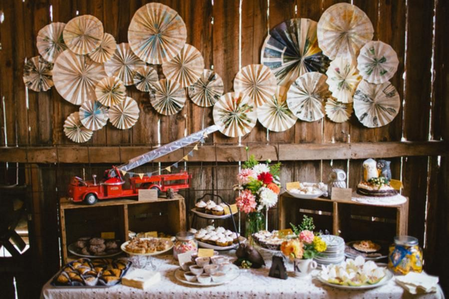 Reality Check Rustic Chic Dessert Table