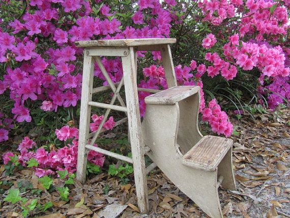 Best Antique Step Stool Wood Step Ladder Folding By 400 x 300