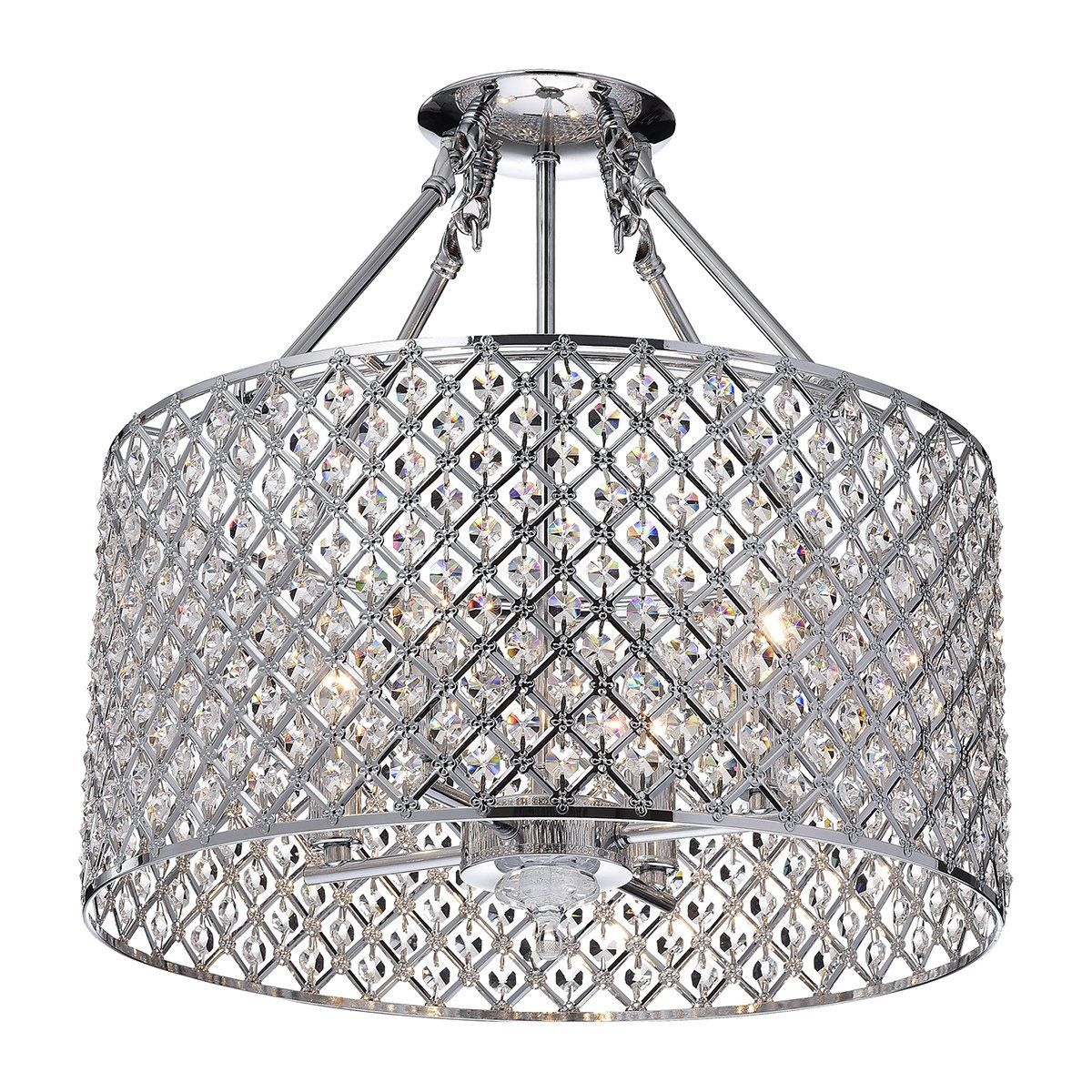 Edvivi esg802ch marya 4 light drum semi flush mount crystal edvivi esg802ch marya 4 light drum semi flush mount crystal chandelier chrome finish round arubaitofo Choice Image