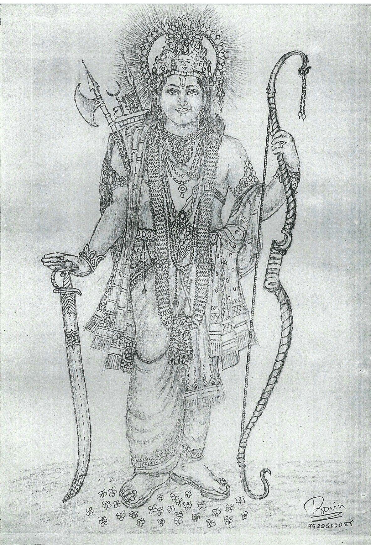 Shree ram sketch