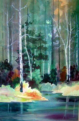 """Birch Trees"" - Original Fine Art for Sale - © Irene Bolitho"